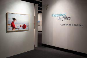 vue d'exposition de l'événement Histoire de filles de Catherine Rondeau au MBAMSH