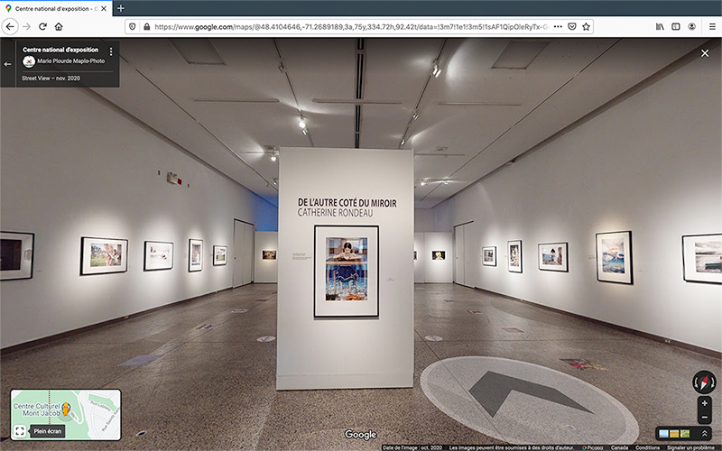 Screenshot of the virtual visit of an photo exhibition hall